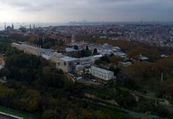 Topkapı Sarayı havadan görüntülendi Böylesi daha önce yaşanmadı...
