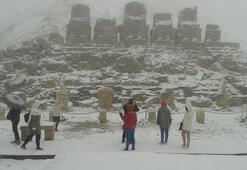 Nemrut Dağında tipi Turistler tahliye edildi