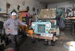70 yıllık arabayı yeniden canlandırıp eski haline getirdi