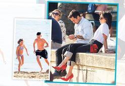 Topukluyla plajda