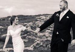 Hafthor Julius Bjornsson ile Kelsey Henson evlendi