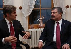 Sağlık Bakanı Koca ile Mehmet Öz bir araya geldi