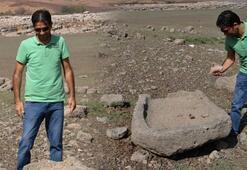 8 yıl beklendi Baraj suyu çekilince ortaya çıktı...