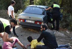 Polisin dur ihtarına uymadı ortalığı birbirine kattı