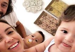 Fettah Can ve Cansu Kurtçunun ikizleri 1 yaşında