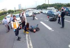 TEM otoyolunda EDSden kaçan sürücü motosiklete çarptı