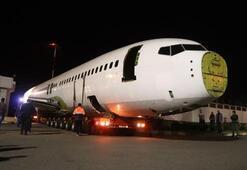 Türkiyenin konuştuğu uçak böyle götürüldü