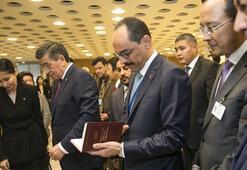 Kalın, BMde Cengiz Aytmatov sergisinin açılışına katıldı