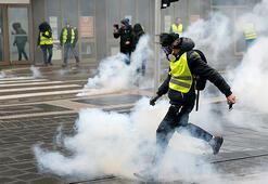 Pariste sarı yeleklilere müdahale