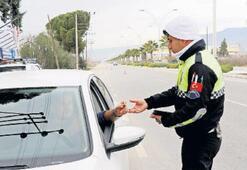İlk denetimde 420 sürücüye ceza yağdı