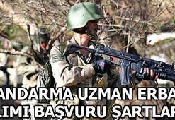 Jandarma Genel Komutanlığı sözleşmeli uzman erbaş alımı başvuru şartları