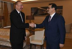 Bakan Dönmez, Aliyevle görüştü