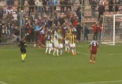 Trabzonspor U21 - Fenerbahçe U21 maçında kavga
