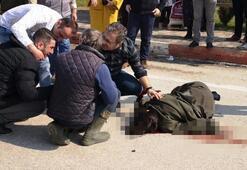 Otomobili ile çarptığı genç kadının başında Ne olur ölme diye ağladı ama...