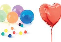 Uçan balonlara helyum ayarı