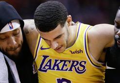 Los Angeles Lakersta Lonzo Ball en az bir ay yok