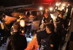 D-100de feci kaza 2 kişi öldü, bir ağır yaralı…