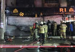İzmirde iş yeri yangını