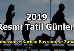 Ramazan Bayramı ne zaman 2019da bayram tatilleri kaç gün olacak