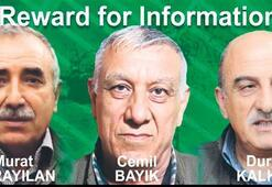 Son dakika: ABD dünyaya duyurdu 3 PKK elebaşı için 12 milyon $ ödül