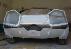 Çinli makinist evinde Lamborghini yaptı