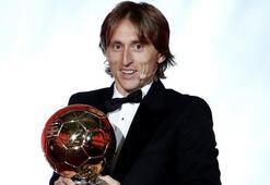 2018 Ballon DOr ödülünü Luka Modric kazandı