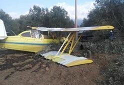 Edremitte uçak düştü