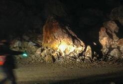 Zigana Dağında heyelan: Trafik kontrollü sağlanıyor