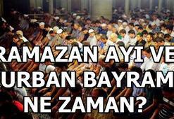 Ramazan ve Kurban Bayramı ne zaman Ramazan ayı ne zaman başlıyor