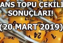 Şans Topu çekiliş sonuçları belli oldu (20 Mart MPİ Şans Topu çekiliş sonuç sorgulama)
