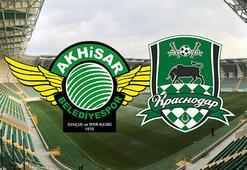 Akhisarspor Krasnodar maçı başladı Akhisarspor maçı hangi kanalda şifresiz mi