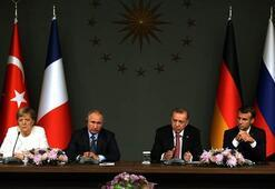 Erdoğan, Putin, Macron ve Merkel imzayı attı İşte ortak bildiri