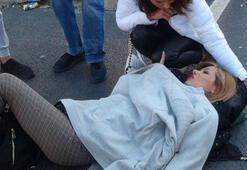 Taksim Meydanında hareketli dakikalar Bu halde gören eşi fenalık geçirdi