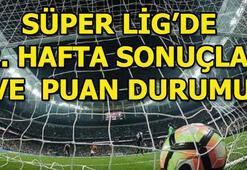 Süper Lig puan durumu Süper Lig 22. hafta puan durumu ve toplu sonuçlar