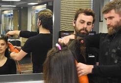 Kanser hastaları için saçını kestirdi