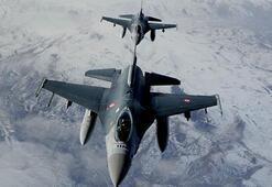 Irakın kuzeyine hava harekatı Hedefler imha edildi...