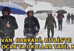 Van, Bitlis, Hakkaride okullar tatil mi (10 Ocak Perşembe)