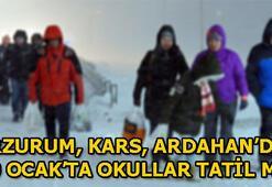 Erzurum, Kars, Ardahanda okullar tatil mi (10 Ocak Perşembe)