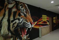Yeni Malatya Stadında grafiti çalışması