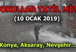 Konya, Aksaray, Nevşehirde okullar tatil mi (10 Ocak Perşembe)