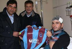 Trabzonspordan Gazi Muhammet Atmacaya ziyaret
