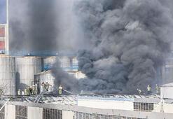 Boşaltılan fabrikada yangın