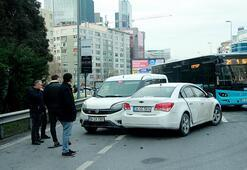 Mecidiyeköyde kaza 4 araç birbirine girdi