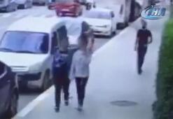 Teşhircilik yapan tacizci kameraya yakalandı Güpegündüz sokak ortasında...