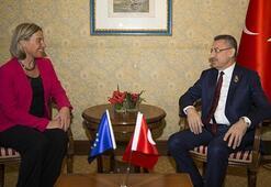 Cumhurbaşkanı Yardımcısı Oktay, Mogherini ilegörüştü