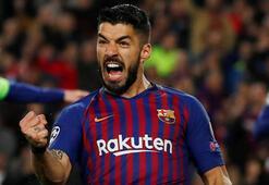 Barcelonada Suarez 2 hafta forma giyemeyecek