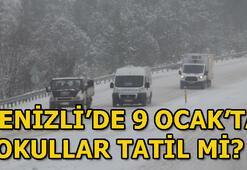 Denizlide okullar mi 9 Ocak Çarşamba Denizlide kar tatili...