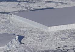 Dikdörtgen buz kütlesi dünyanın gündeminde