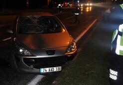 Alkollü kadın sürücünün çarptığı polis yaralandı
