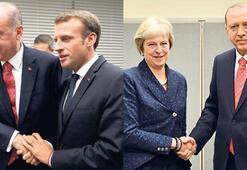 Görüşme odasında liderler geçidi